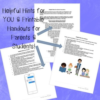 Self Harm Quick Tips for Parents and Students