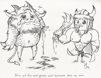 Beowulf and Grendel: Self-Help Pamphlet