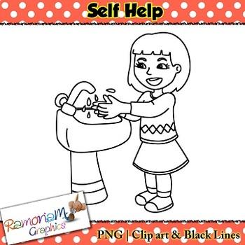 Self Help skills Clip art