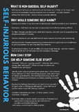 Self-Injury / Self-Harm / Cutting information for students and parents
