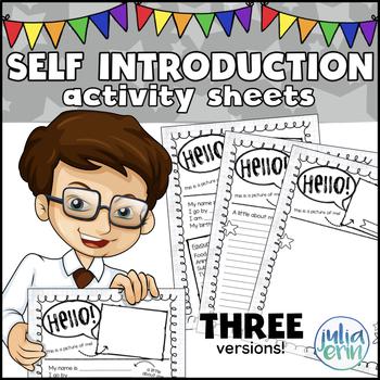 Self Introduction Activity Sheet