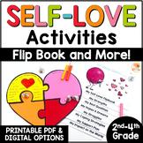 Self-Love Activities: Self-Esteem Reflection Puzzle & Flip Book Digital Option