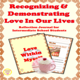 Self Love Reflection & Writing Prompts Activities for Inte