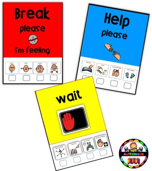 Self-Management Visual Support Cards - Autism/Special Ed