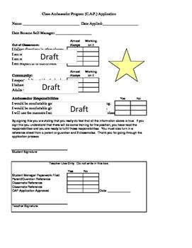 Self Manager and Class Ambassador Program