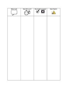 Self-Monitor Articulation Sheet