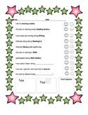 Self Monitor Behavior Chart