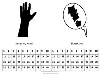 Contract for Blurting Out - Raise Your Hand!