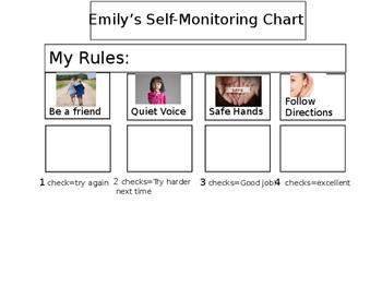 Self-Monitoring Behavior Chart (editable)
