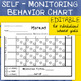 Daily Behavior Chart | Self Monitoring | Input Individualized Behavior Goals
