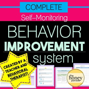 Self-Monitoring Behavior Improvement System - for ANY behavior problems!