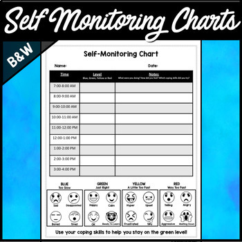 Self-Regulation Self Monitoring Charts
