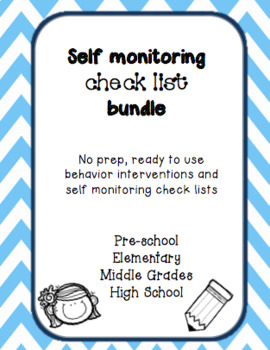 Self Monitoring Check List and Data Collection Bundle