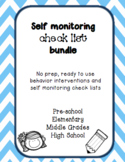 EDITABLE Self Monitoring Check List and Data Collection Bundle