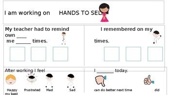 Self Monitoring Checklist