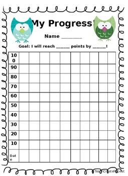Self-Monitoring Progress Chart