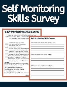 Self Monitoring Skills Survey