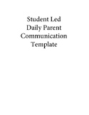 Self Monitoring - Student Led Parent Note