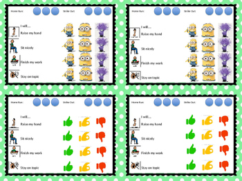 Self-Monitoring Task Cards for Autism & Special Education behavior Boardmaker