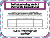 Self-Monitoring Verbal Outbursts Token Board - 5 Minute Intervals