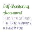 Self-Monitoring to determine the meaning of an unknown word