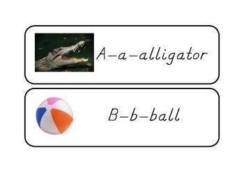 Alphabet Cards based on Starfall Alphabet