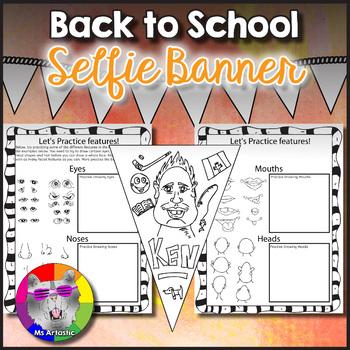 Drawing Cartooning Pennant Banner Activity