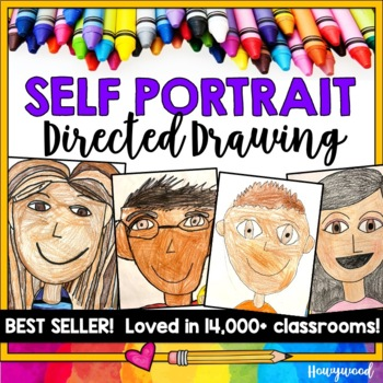 Self Portrait Directed Drawing Project!