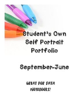 Self Portrait Drawing Portfolio ~ Great for Data Notebooks