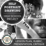 Self-Portrait Drawings with a Social and Political Focus: High School Visual Art