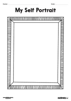 Self Portrait Frames - Worksheets