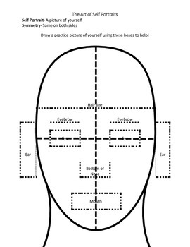 Self Portrait Handout for Young Students