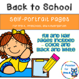 Self-Portrait Pages for Pre-K, Preschool, and Kindergarten