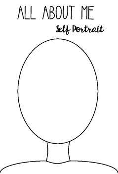 Self Portrait Coloring Page