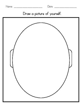 Self Portrait Template By Special Resources For Special Learners