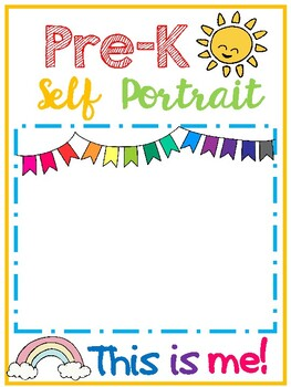 Self Portrait Template Worksheets Teaching Resources Tpt