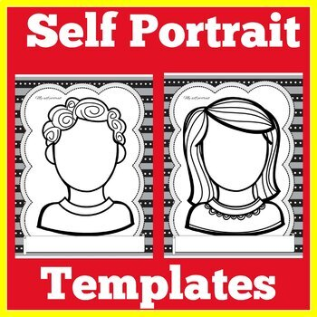 Self Portrait Template Printables By Green Apple Lessons Tpt
