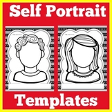 Self Portrait Template   All About Me   Self Portraits