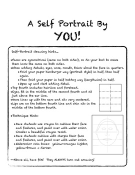 Self-Portrait Template and Instructions