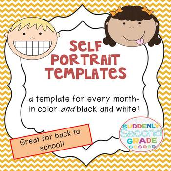 Self Portrait Templates for Back to School!
