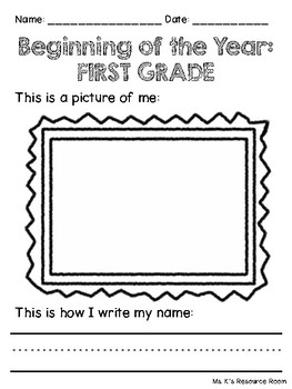 Self Portrait and Name Writing Activity