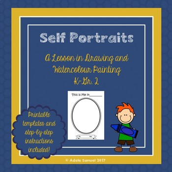 Self Portrait drawing and Watercolour Painting Lesson