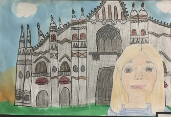 Self-Portrait with Architectural Background