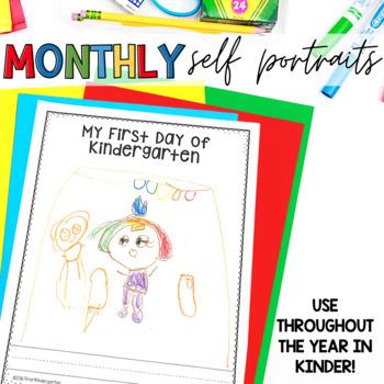 Self Portrait Monthly Portfolios TK PreK Kindergarten First Grade All Year