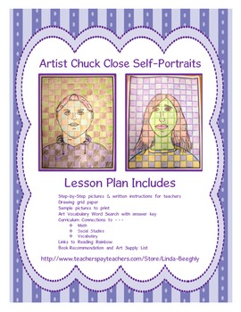 Using Math Grids with Art - How to Draw Self-Portraits like artist Chuck Close