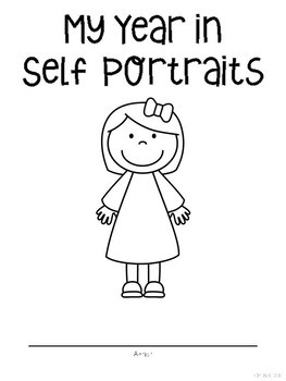 Self Portraits - Writing and Drawing All Year Long in English or Spanish
