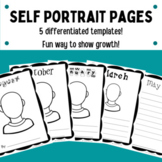 Self-Portraits (monthly and progressive drawing and writing)