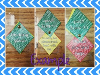 Self Rating and Help Spinners for Classroom Management