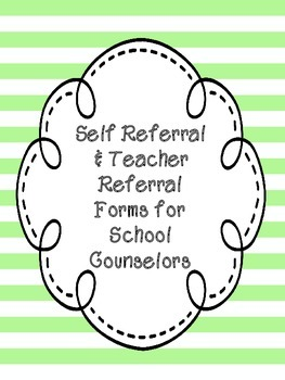 Self Referral and Teacher Referral Forms