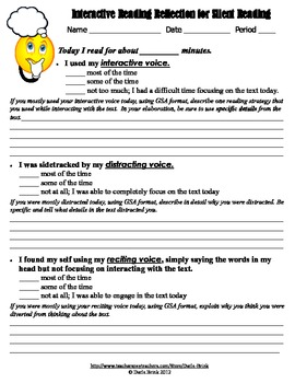Self Reflection Assessments for Sustained Silent Reading